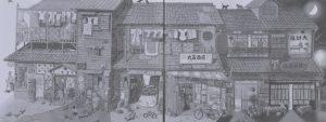 昭和の夏の物語 3×1.1m ろうけつ染