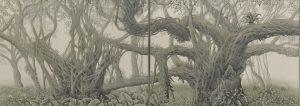 ガジュマルの杜 3×1.1m 草木染 第81回第一美術展(2010)第一美術協会賞