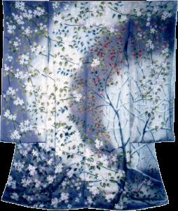 林檎の詩 振袖 草木染友禅
